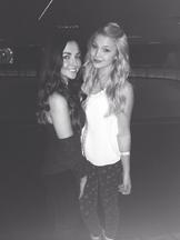Olivia and Natalie rollerskating 2014