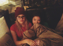 Olivia, Piper and a Blanket