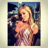 Olivia Drinking a Smoothie