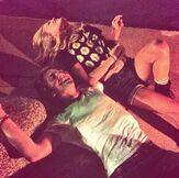 Olivia on the Floor with Luke