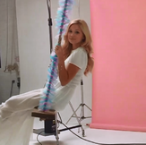 Olivia, White Dress and on a Swing
