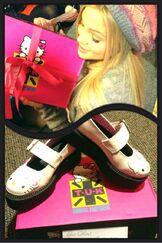Olivia and Hello Kitty Shoes