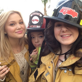 Olivia piper and sarah in fireman clothes