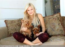 Olivia and with Her Dogs