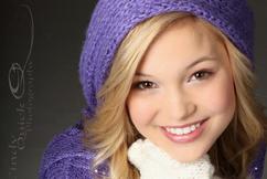 Olivia Wearing Purple Hat