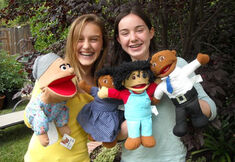Sarah with Puppets in 2011
