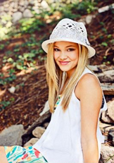 Olivia with White Hat