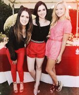 Oliva with Laura Marano and Her Sister