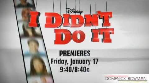"Disney Channel's ""I Didn't Do it"" - Official Promo."