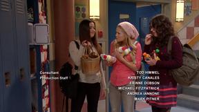 Jasmine's locker is full of food and drinks!