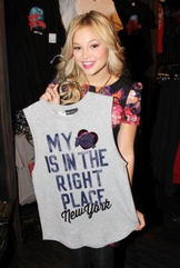 Olivia with a Top with a Slogan