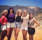 Olivia, Friends and the Hollywood Sign