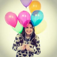 Sarah with Balloons