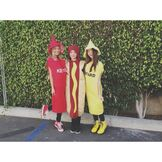 The Girls Dressed as Food