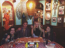The Cast with Spaghetti