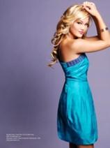 Olivia Holt blue dress photoshoot GvsM
