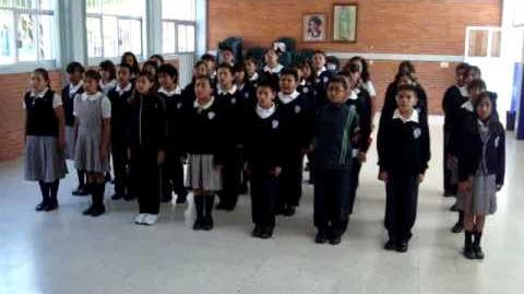 Himno Nacional Mexicano cantado al náhuatl clásico en México, D.F