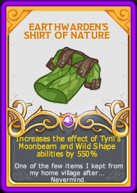 Tyril/Earthwarden's Shirt of Nature | Idle Champions of the