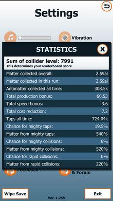 Statistic-screen