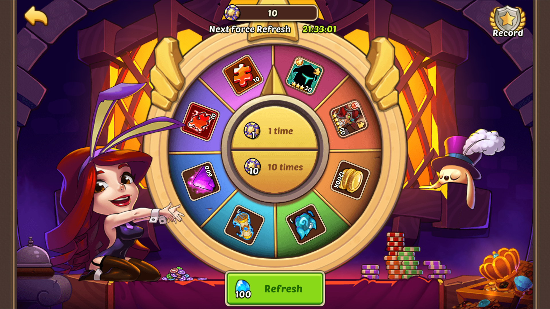 idle heroes super casino refresh time