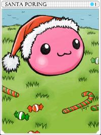 Santa Poring-card