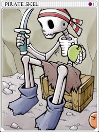 Pirate Skeleton-card