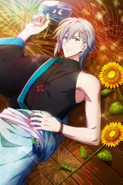 Tamaki Yotsuba (Flowers Reflected in Your Image) Borderless