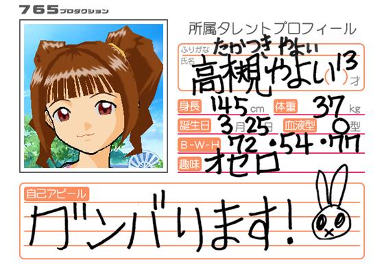 File:Yayoi Takatsuki Arcade Profile.png
