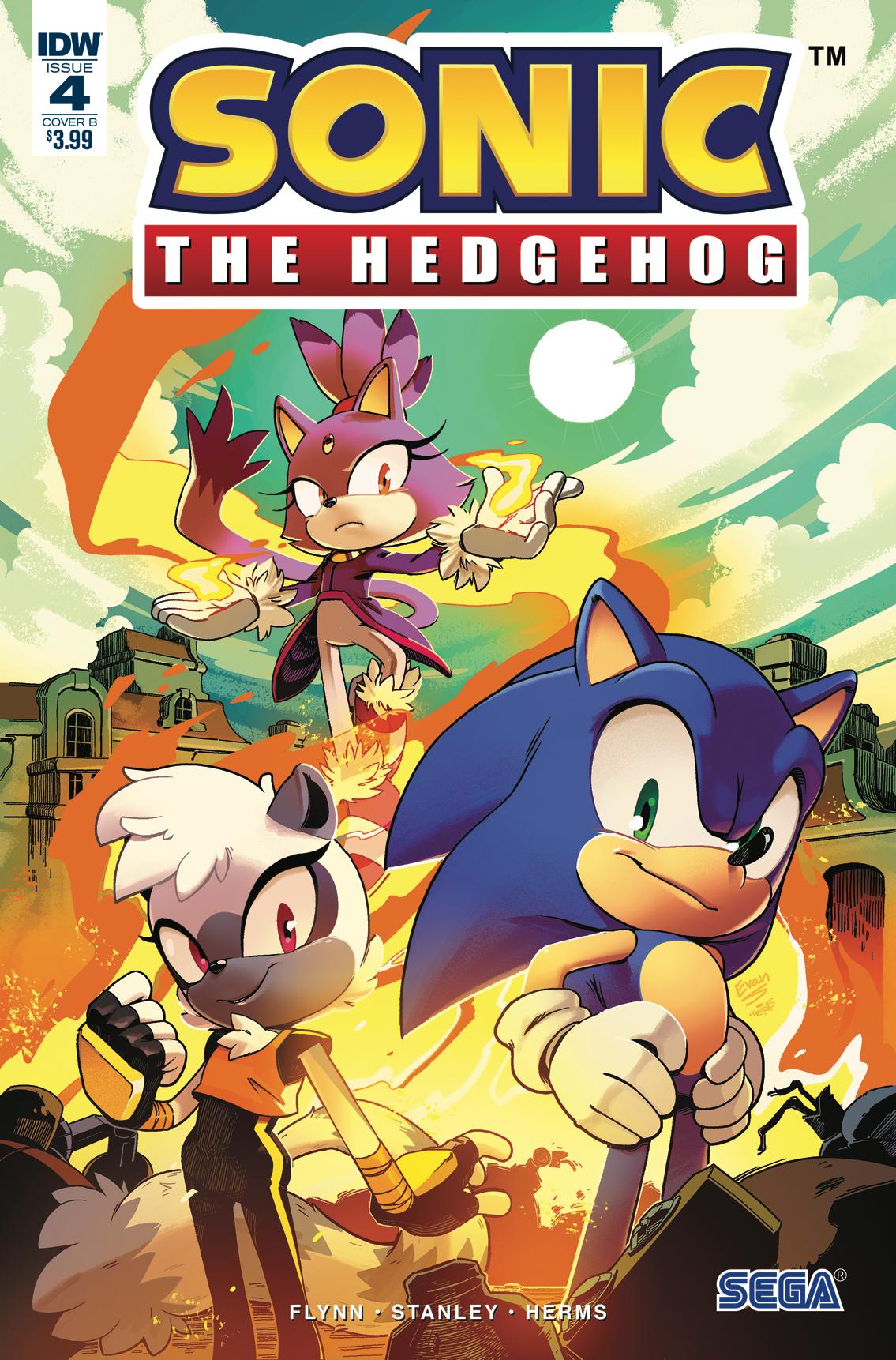 Idw Sonic The Hedgehog Issue 4 Idw Sonic Hub Fandom