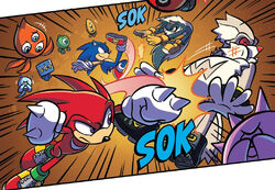 Sonic and Knuckles Defeat Rough and Tumble