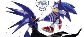 Neo grabs Sonic
