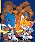 Sonic and Tails fight Egg Hammers