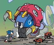 Fighting Giant Moto Bug