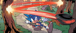 Sonic dodges Shadow