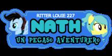 Nath- An Adventurous Pegasus - logo (Spanish) by Ritter Louie227