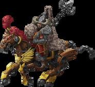 Mogul Kamir Fullbody on horse