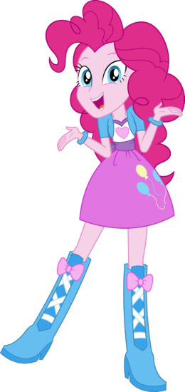 Equestria girls pinkie pie vector by icantunloveyou-d9olxv6
