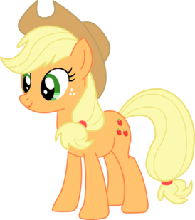 Applejack standing around vector by stealth1139-d4ulcoq