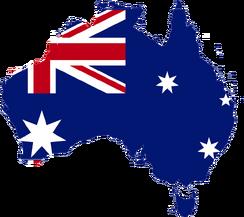 Australia flag map