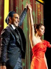 Katniss i Ceasar Flickerman