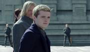 Peeta podczas egzekucji Snowa