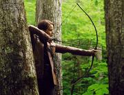 Katniss podczas polowania
