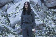 Katniss po bombardowaniu Trzynastki