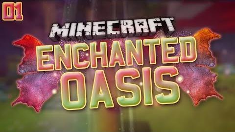 """Minecraft- Enchanted Oasis """"WELCOME!"""" 1"""