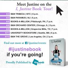 List of I, Justine book tour locations