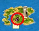 Остров с виноградником на карте