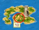 Остров с серой на карте