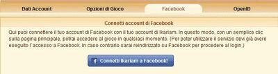 Connessione facebook