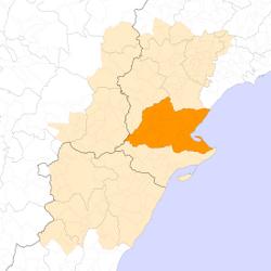 Localització del Baix Ebre