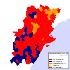 Eleccions Congrés 2008-03-09